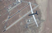 Un Global Hawk sobrevuela la base Edwards de la Air Force