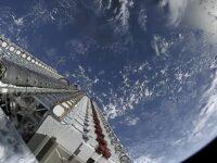 Vista de los 60 satélites Starlink en su lanzamiento del 24 de mayo de 2019